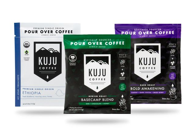 three different coffee packages