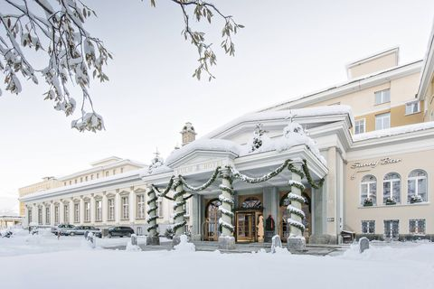 Snow, Winter, Classical architecture, Architecture, Building, Freezing, Tree, House, Facade, Blizzard,