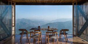 Hotel The Kumaon in de Himalaya is de beste plek om de zonsondergang te zien