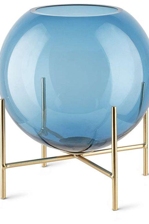 Kupla Round Blue Vase