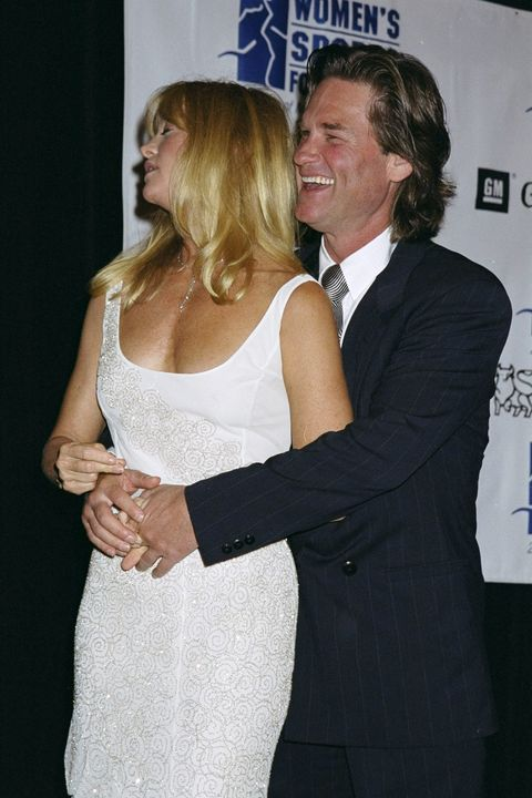 kurt russell and goldie hawn are on hand for the women's spo