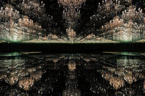 Infinite Sparkles Emerge in Yayoi Kusama's New, Swarovski-Embellished Installation in Austria