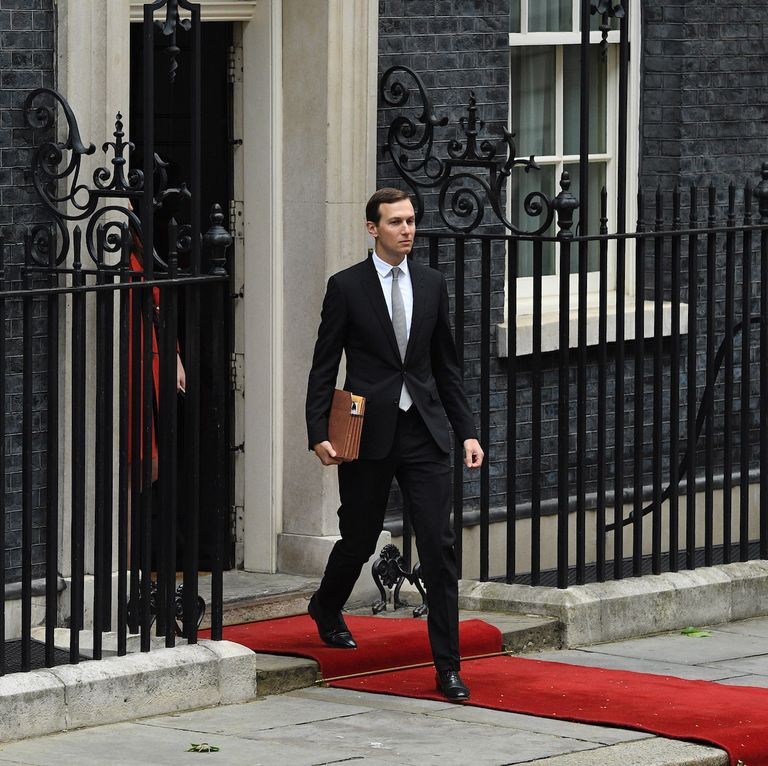 Kushner steps out of 10 Downing Street, where we can safely assume he was making policy solely in the interests of the American public.