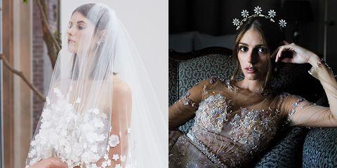Headpiece, Veil, Hair, Hair accessory, Bridal accessory, Wedding dress, Clothing, Bridal veil, Bride, Dress,