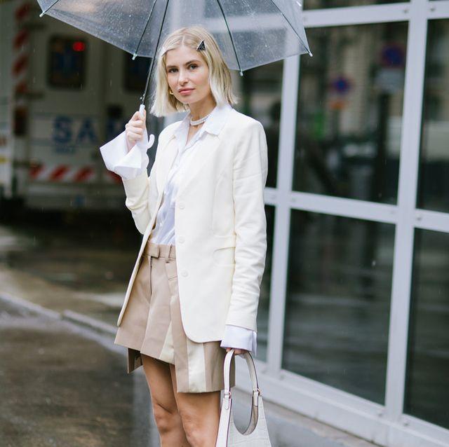 クセニア・アドンツになりきり! 憂鬱な雨の日こそ、ホワイトコーデで晴れやかに