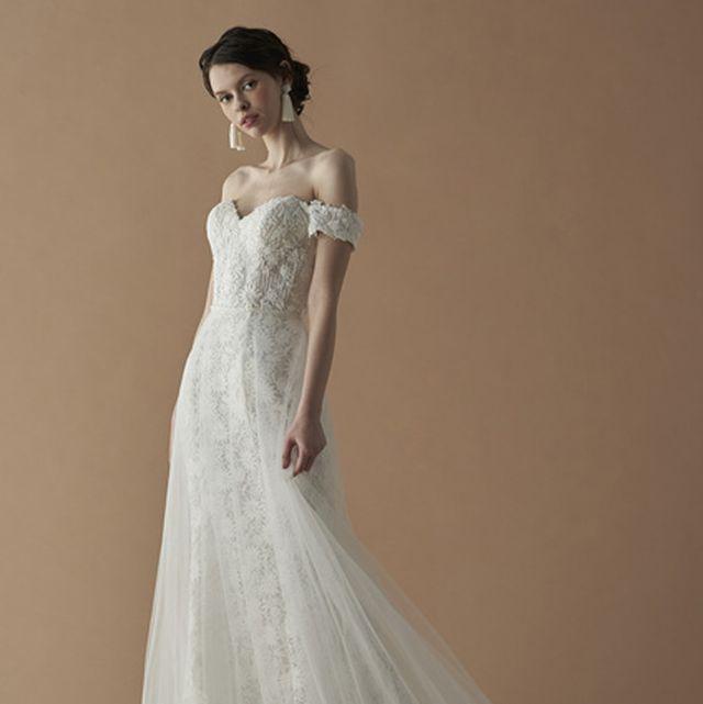 ハートカット+ふんわりドレスで、大人キュートな花嫁に!