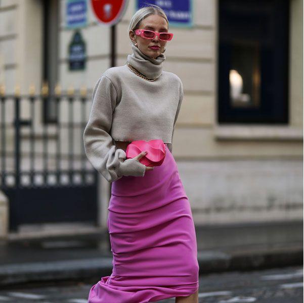 レオニー・ハンネになりきり! 2020年秋冬コーデはカラースカートで華やかアップデート