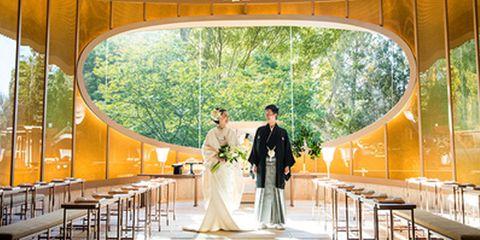 Photograph, Yellow, Bride, Ceremony, Wedding, Wedding dress, Dress, Marriage, Veil, Bridal clothing,
