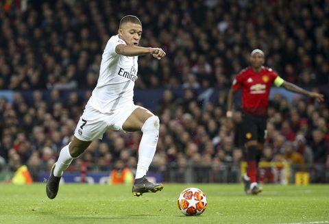 Kylian MbappéManchester United v Paris Saint-Germain - UEFA Champions League Round of 16: First Leg