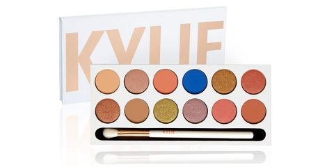 Brown, Peach, Eye shadow, Orange, Cosmetics, Tints and shades, Beige, Rectangle, Circle, Paint,