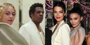Jay Z en Beyonce dissen Kendall en Kylie Jenner