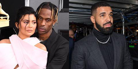 Kylie Jenner, Travis Scott, and Drake