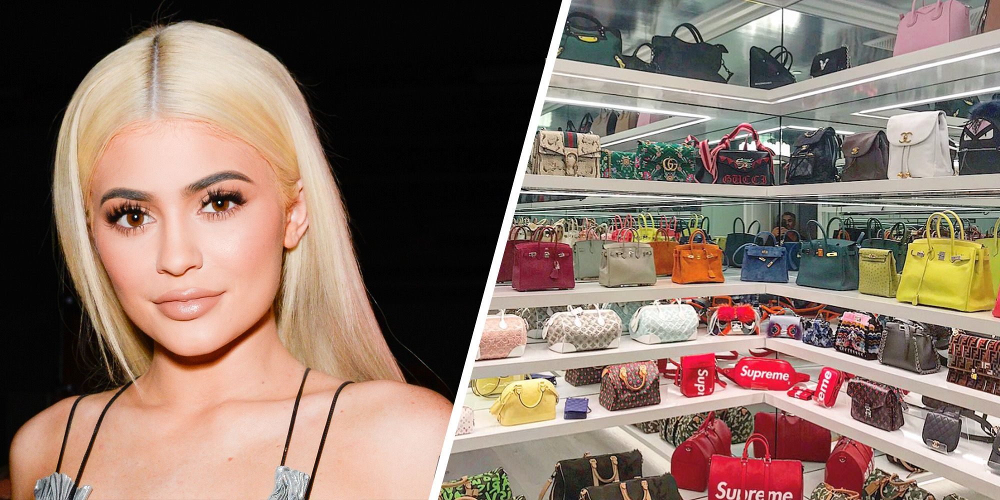 An inside look at Kylie Jenners over the top purse collection