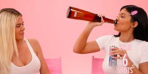 kylie jenner khloe kardashian drunk get ready with me video