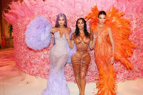 kylie, kim and kendall at the met gala 2019