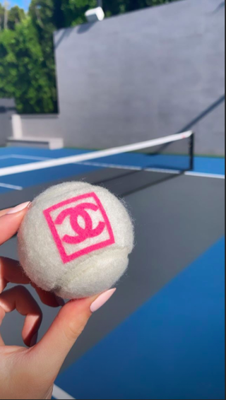 kylie jenner on her tennis court