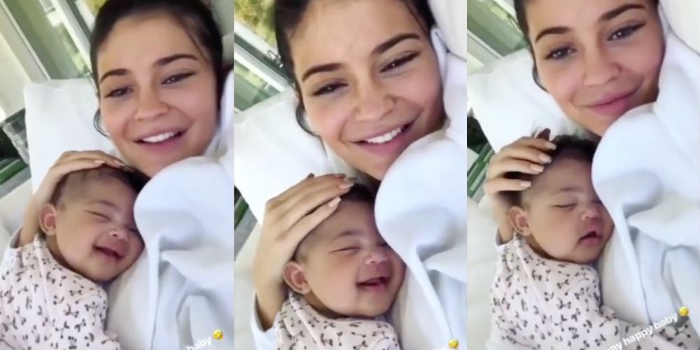 Kylie Jenner cuddling Stormi while they laugh is almost too much