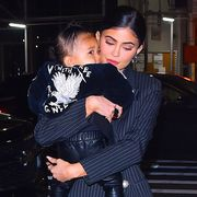 new york, ny   may 03  kylie jenner and daughter stormi webster are seen out and about in manhattan on  may 3, 2019 in new york city  photo by robert kamaugc images