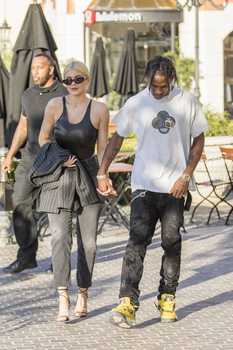 9e1aae2d6af9 Kylie Jenner and Travis Scott Spark Engagement Rumors With Jewelry ...