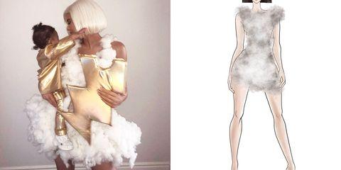 Clothing, Fashion model, Shoulder, Fashion, Fashion design, Costume design, Dress, Joint, Fashion illustration, Footwear,