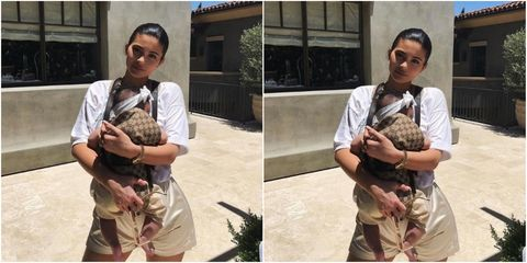 Kylie Jenner Carried Stormi In Gucci Baby Carrier To A Party Because ...