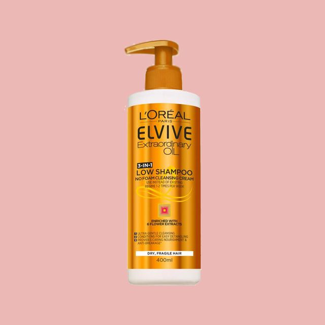 l'oreal paris elvive extraordinary oil dry hair low shampoo review