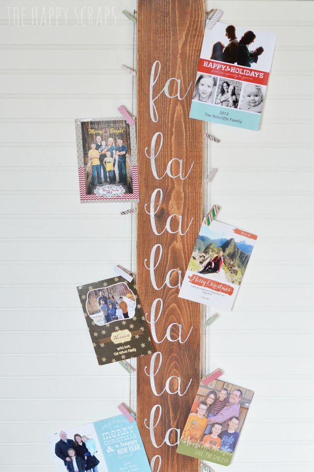 27 diy christmas card holder ideas how to display christmas cards