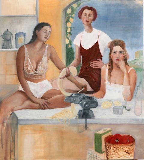 Detail from 'La macchina per la pasta'