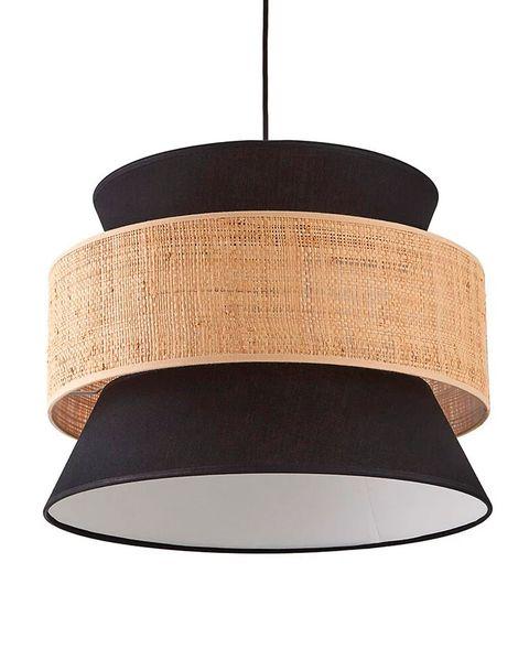lámpara de techo de fibra y negra