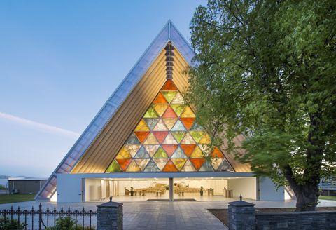 Shigeru Ban Catedral de Cartón. Imagen © Stephen Goodenough