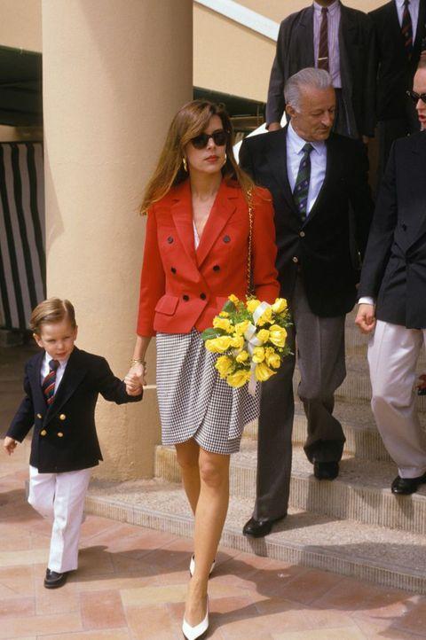 Caroline de Monaco Et Son Fils Andrea A L Open De Tennis De Monte Carlo