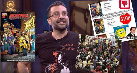 La Resistencia. Salva Espín. Cómic de Deadpool con portada de La Resistencia