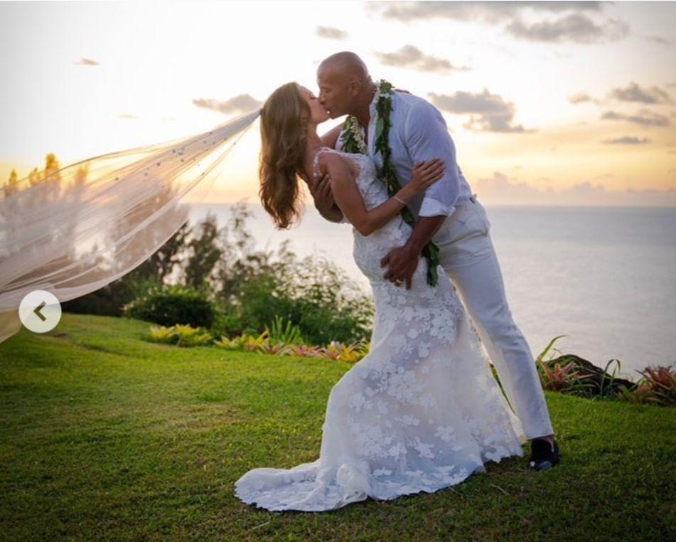 Dwayne Johnson, 'La Roca', se casa con con Lauren Hashian tras 12 años juntos