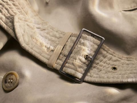Beige, Footwear, Outerwear, Shoe, Fashion accessory, Jacket, Metal,