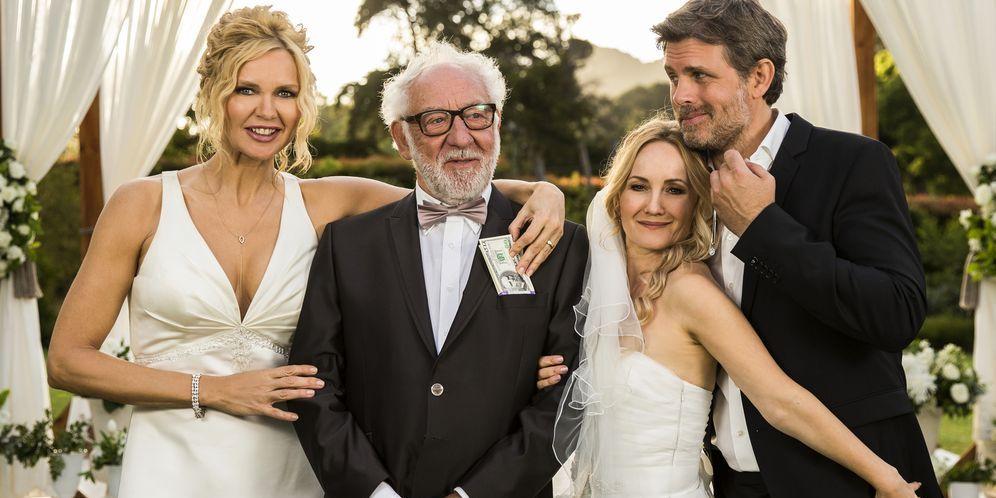 El día de la boda en la película La trampa del amor, conVeronica Ferres, Steffen Groth, Dieter Hallervorden yKatharine Mehrling.