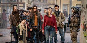Unax Ugalde, Olivia Molina y Ángela Molina en 'La valla', de Antena 3