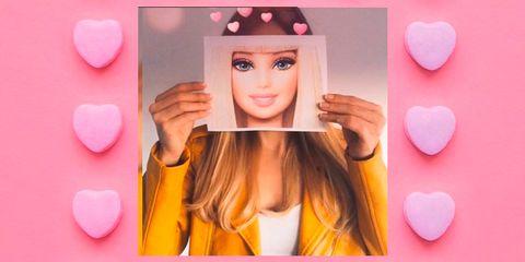 Hair, Pink, Lip, Skin, Blond, Beauty, Heart, Cheek, Hair coloring, Eyelash,