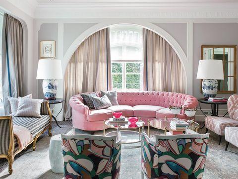salón decorado con estilo romántico
