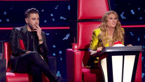La Voz. Paulina Rubio y Antonio José