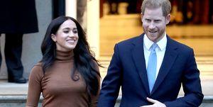 Meghan Markle en prins Harry bezoeken het Canada House in Londen.