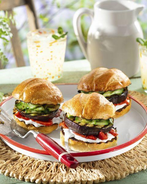 labor day recipes eggplant burger