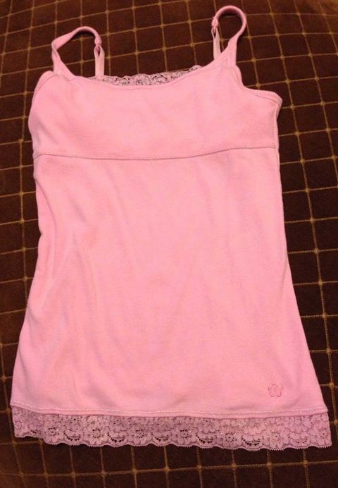 Product, White, Pink, Sleeveless shirt, Baby & toddler clothing, Clothes hanger, Active tank, Undershirt, Peach, Pattern,