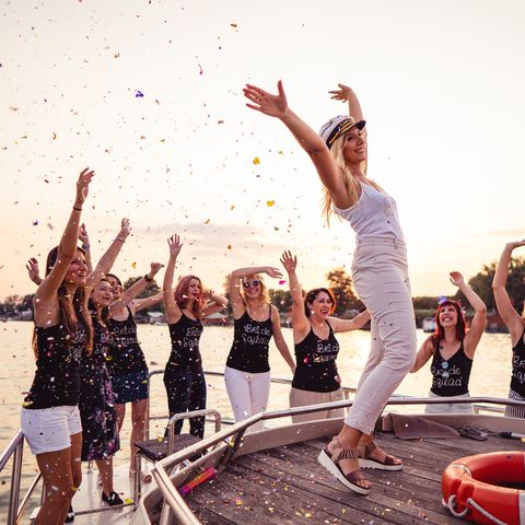 ladies celebrating bachelorette party