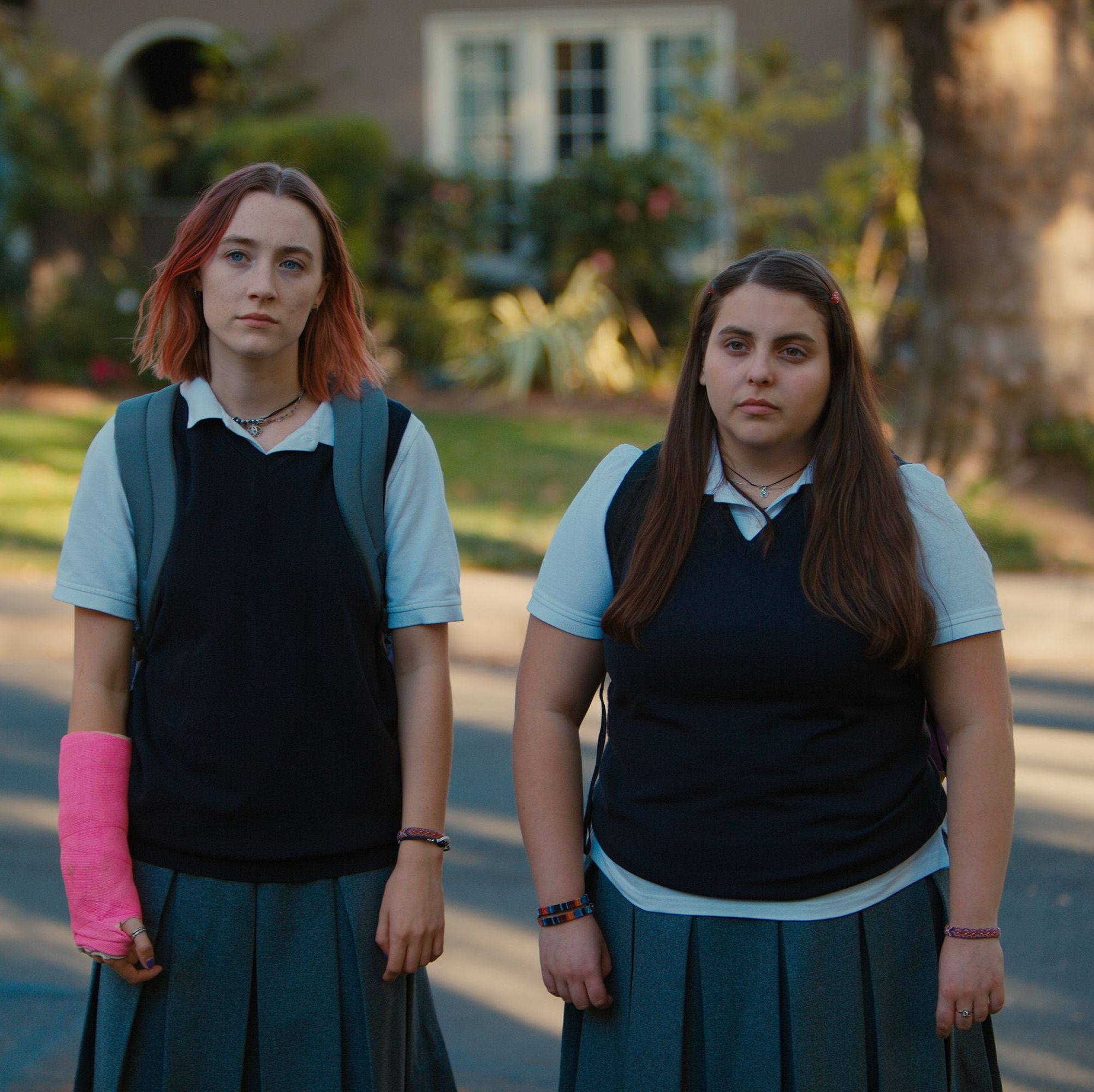 Lady Bird Saoirse Ronan is magnetic as an idiosyncratic high-schooler looking to abandon her Sacramento hometown—and her mother (Laurie Metcalf)—for the East Coast in Greta Gerwig's acclaimed directorial debut.