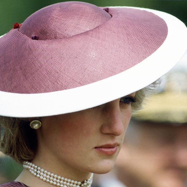 italy   april 28  diana, princess of wales wearing a hat by milliner frederick fox during a visit to anzio in italy  photo by tim graham photo library via getty images