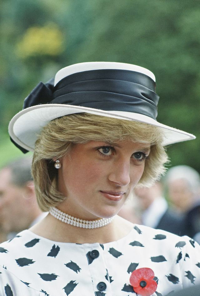 auckland, new zealand   april 25  princess diana during a royal tour of new zealand at a garden party on remembrance day in auckland  photo by tim graham photo library via getty images