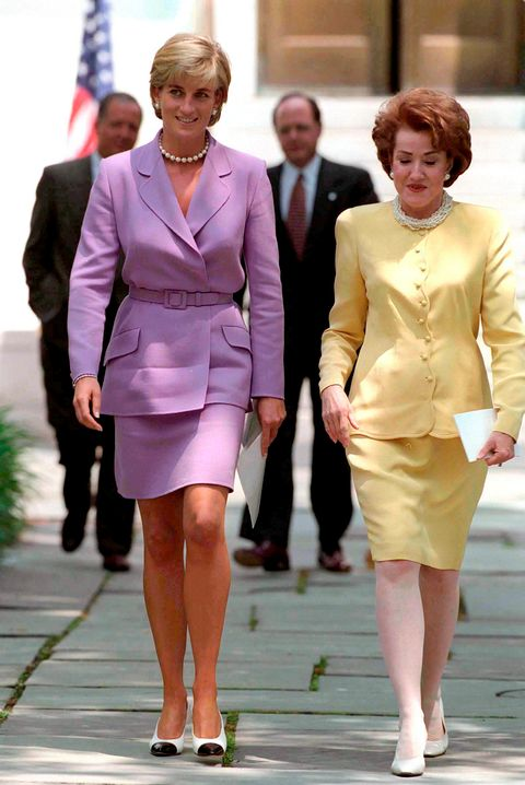 lady di with two-piece set in purple