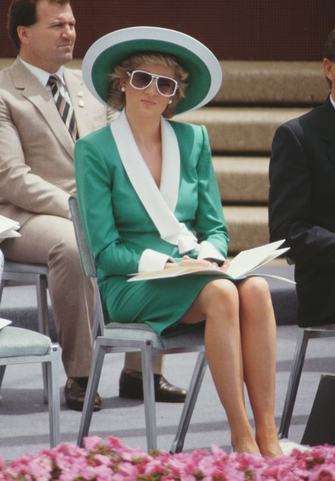 lady di with green outfit