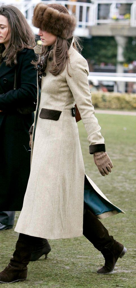 Kate Middleton With Long Beige Coat