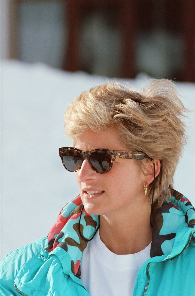the princess of wales, princess diana, enjoys a ski holiday in lech, austria prince william and prince harry join her for the trip picture taken 1st april 1993 photo by kent gavinmirrorpixgetty images